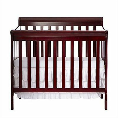 Dream On Me 3 in 1 TODDLER BED BABY CRIB, Aden Convertible Mini CRIB, Cherry