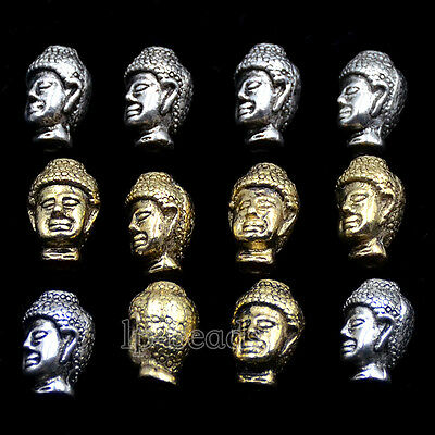 Wholesale Solid Metal Buddha Head Bracelet Necklace Connector Charm Beads