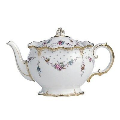 New Royal Crown Derby 2nd Quality Antoinette Large Teapot