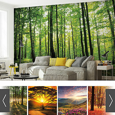 Forests Nature Flowers Photo Wallpaper Mural
