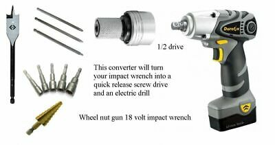 """Drive converter 3/8"""" to drill or Screw driver quick release bits"""