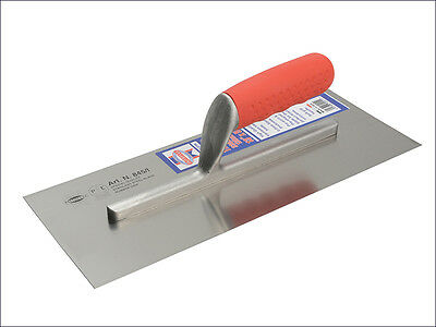 Faithfull Stainless Pre-Worn Plasterers Soft Grip Finishing Trowel /trowels