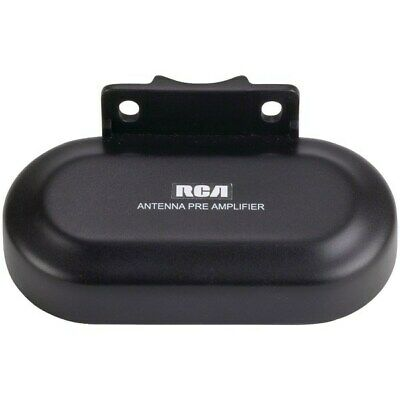 RCA TVPRAMP1R Outdoor UHF/VHF TV Antenna Preamplifier/Signal Booster