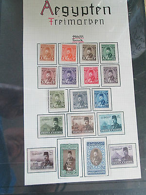 Egypt 1944 Mint Set Of Stamps