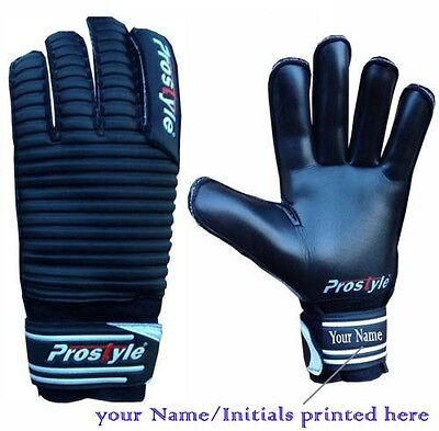 Goalkeeper Gloves Finger Save Football Goalie Roll Finger Gloves Size 4-11 BLACK