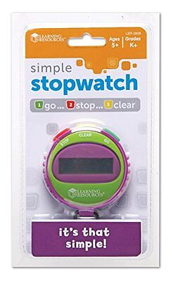 Learning Resources Simple Stopwatch, Assorted Colors
