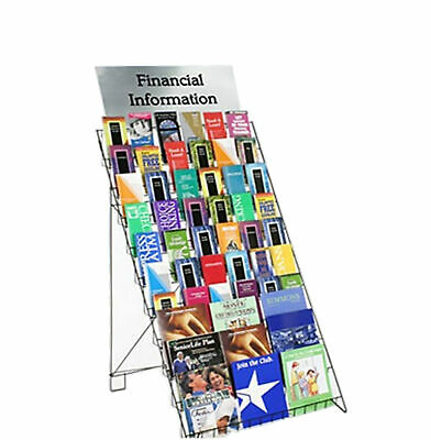 Wire Literature Book CD Magazine Rack Merchandise Calendar Retail Display 1483