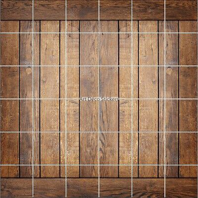 Stickers Tile Wall Deco Effect Parquet Wood 1911