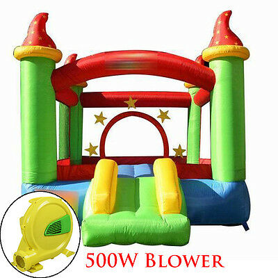 New Moonwalk Kids Inflatable Bouncy Castle House Bouncer Jumper W/ Climb Slide