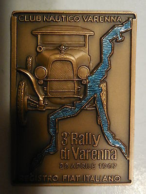 placca 3 rally auto di varenna 1967 registro fiat italiano