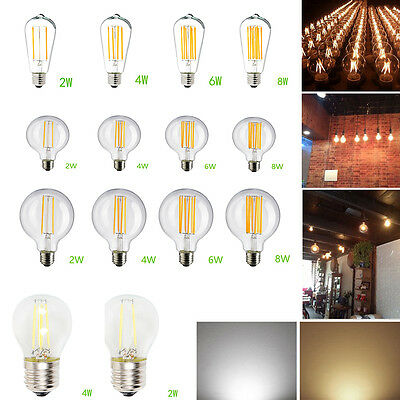 Vintage Filament Edison Antique Industrial Style Dimmable Lamp Light Bulb E27 MD