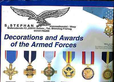 USA:Decoration and Awards of the Armed Forces. Poster. 62 x 96 cm