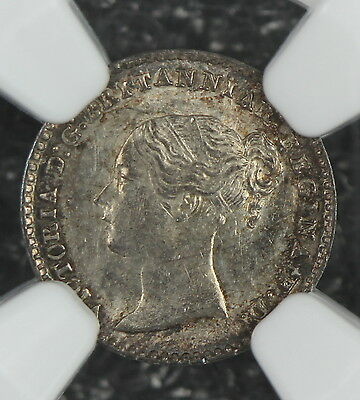 Ngc Ms62 1879 Great Britain Silver 1 Pence Maundy  1P