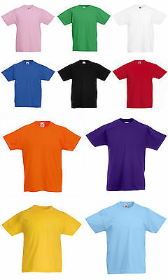 T-shirt Bambino Fruit of the Loom Valueweight - 100% cotone Belcoro 165 Gr