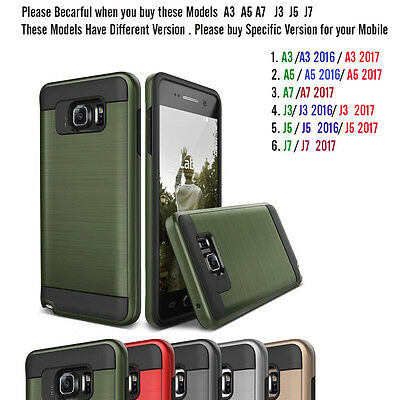 New Slim Armor Hybrid Dual Layer Shock Proof Case Cover For all Samsung iPhone