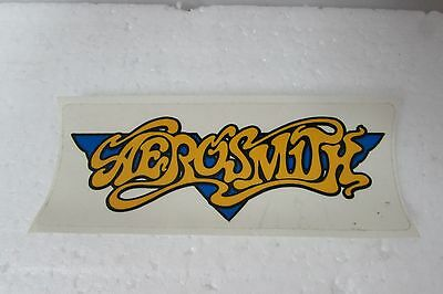Aerosmith Logo Decal Yellow With Blue Wings