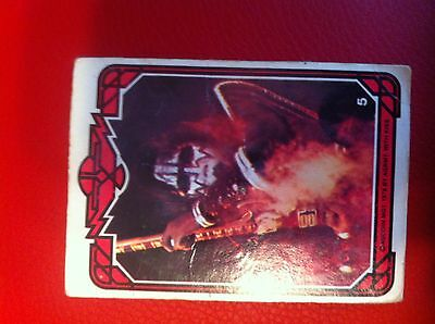 1978 Donruss KISS Ace Frehley Original Trading Card #5 POOR