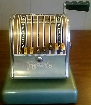 The Paymaster System, Series 600, Vintage Green Check Writing Machine