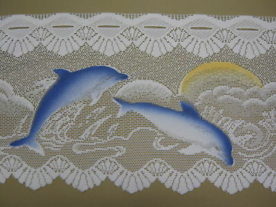 LACE CURTAIN VALANCE DOLPHIN 30cm FOR KITCHEN, BATHROOM, TOILET, selling per mt