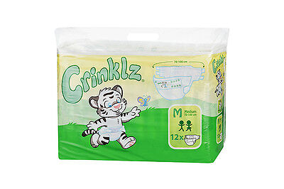 Crinklz Adult Disposable incontinence nappy, Diaper- CARTON 4 pks MEDIUM SIZE