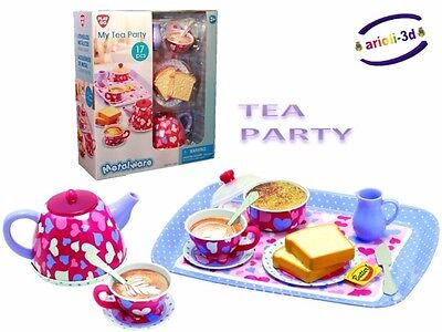 My Tea Party - Dishes Toy - Metalware By Play Go New Service À Thé - Kitchen