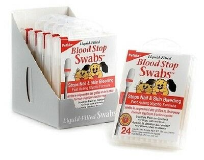 Blood stop swabs - stops nail and skin bleeding birds, dogs and cats