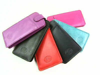 Mens Ladies High Quality Real Leather Glasses Sunglasses Case Protector Pouch
