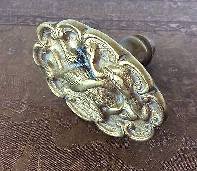 Vintage  Bronze Figural  Door Knob Eagle Devouring Snake Mexican Coat of Arms