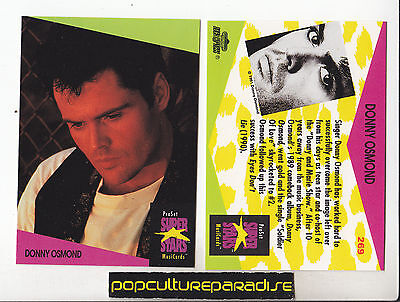DONNY OSMOND Pop 1991 Pro Set MUSIC SUPER STARS CARD