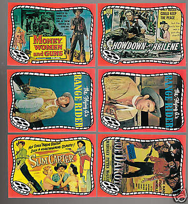 JOCK MAHONEY Western Movie Star 6 PICTURE TRADING CARDS 1993