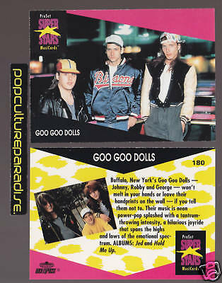 GOO GOO DOLLS Band 1991 Pro Set MUSIC SUPER STARS CARD