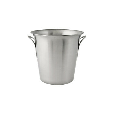 6x Wine Cooler / Champagne Bucket, Satin Finished Stainless Steel, 215mm