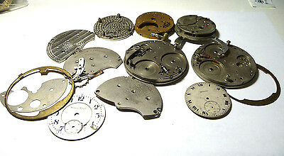 Mixed Pocket Watch & Clock Parts Only