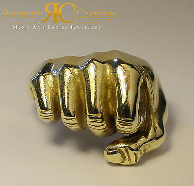 Men's Highly Polished Fist Ring  Cast in 9ct Solid Gold Fully Hallmarked 23 gram