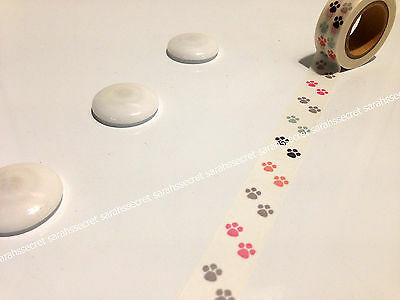 Japanese Washi Tape 15mmx10m Pastel Colour Puppy Paw Print #W2154