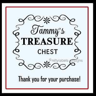 CUSTOMIZED BUSINESS THANK YOU STICKER LABELS SCROLL SIGN #18