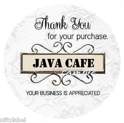 Customized Business Thank You Sticker Labels  - Shroll Sign #22