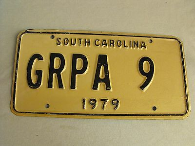 """1979 S.C. GRPA 9  LICENSE PLATE """"rEdUcEd"""""""