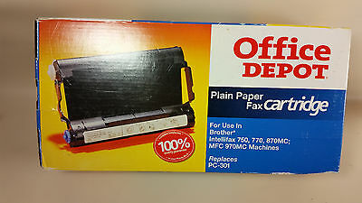 Office Depot plain paper fax cartridge replace Brother PC 301 unused open box