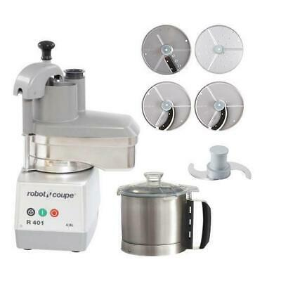 Robot Coupe Food Processor R401 With 4 Discs 4.5L Commercial Equipment