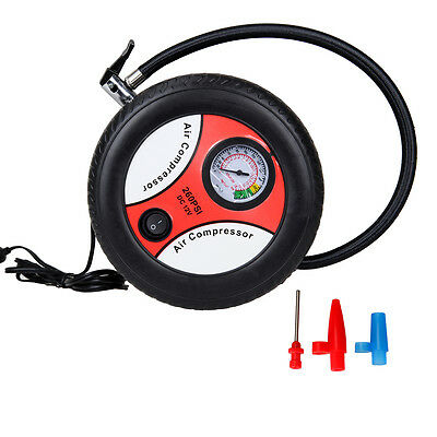 12V Cigarette Lighter 260PSI Portable Car Air Pump Electric Tire Inflator Ball