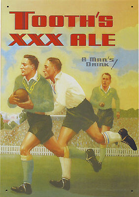 NEW Tooths XXX Ale A Mans Drink Beer Rugby Nostalgic Reproduction Tin Sign