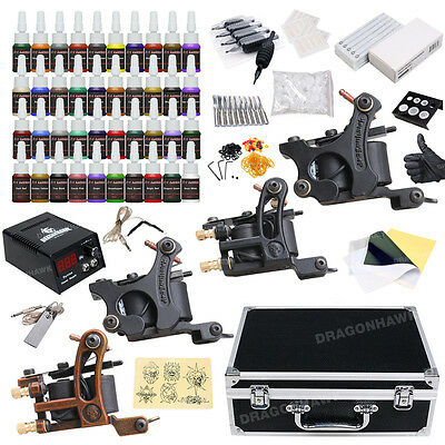 Tattoo Kit 4 Machine Guns 40 Color Inks Power Supply Needles Tip D23OD-10