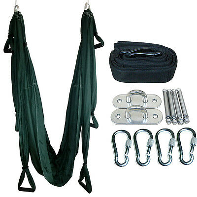 Inversion Therapy Anti-Gravity Pilates Yoga Swing Sling Hammock Complete Set New