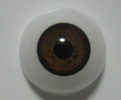 Reborn doll eyes 22mm Half Round  BROWN