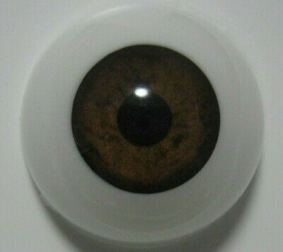 Reborn doll eyes 24mm Half Round  BROWN