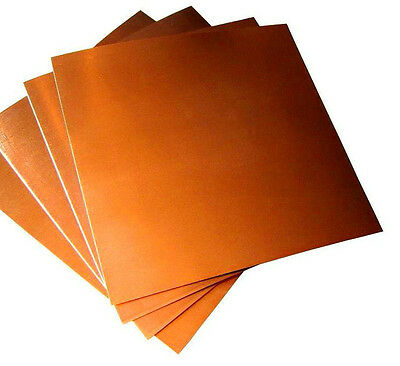 Copper Sheet - 150mm x 150mm x 0.10mm soft for craft bulk pack 25 peices