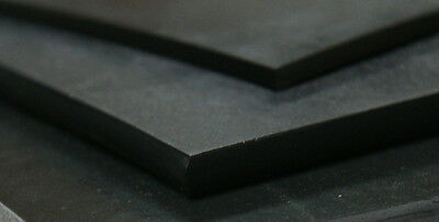Black Rubber Solid Nitrile - 300mm, 214mm, 3mm A4 SIZE FREE POST NITRILE