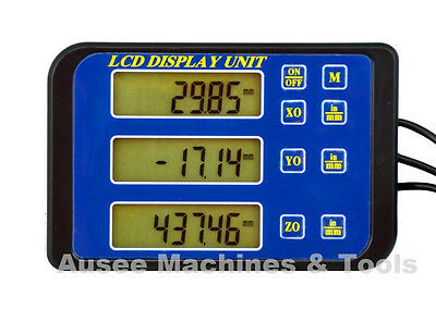 Digital Readout Units with Magnetic Back -3 axis