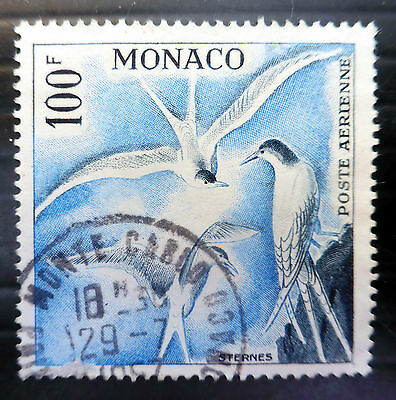 MONACO 1957 - 100f Bird Airmail Fine/Used SG508a NEW LOWER PRICE FP6459